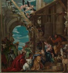 Adoración de los Reyes Magos.