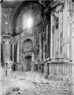 Interior destrozado de San Isidro tras la Guerra Civil.