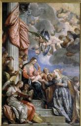 El matrimonio místico de Santa Catalina.