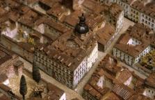 Vista del Colegio de Niñas de Leganés en la maqueta de Gil de Palacio.