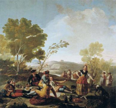 "Fig. 2-Francisco de Goya: ""La merienda""."