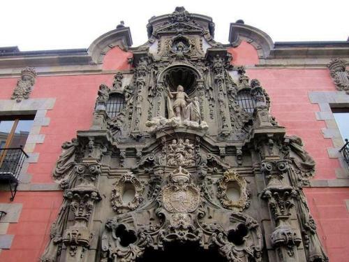 Pedro de Ribera- Portada del Hospicio de San Fernando.