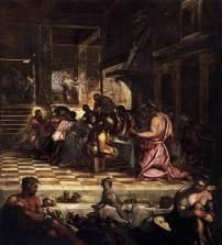 """Jacopo Tintoretto: """"La Última Cena"""". Scuola Grande di San Rocco."""