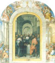 Cincinnato: Tríptico del Cordero Pascual (cerrado), 1589. El Escorial, Claustro de los Evangelistas.