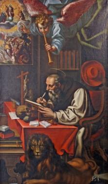 Cincinnato y taller: San Jerónimo y el ángel trompetero, 1591-1597. Guadalajara, Museo Provincial.