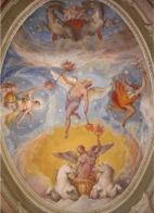 Bóveda de la Sala de la Aurora pintada por Taddeo Zuccaro en el Palazzo Farnese de Caprarola (1562-1563)