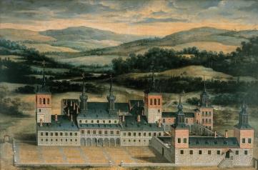 Atribuido a Félix Castello: Vista del Palacio de Valsaín, ca. 1633. Patrimonio Nacional.