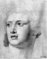 Carlos Espinosa- Cabeza de Perseo, copia de Mengs.