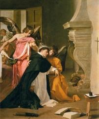 """Fig. 5- Diego de Silva Velázquez: """"La Tentación de Santo Tomás de Aquino"""", Museo Diocesano de Arte Sacro, Orihuela."""