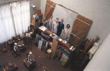 Antonio López- Cuadro de la familia real en el taller del pintor