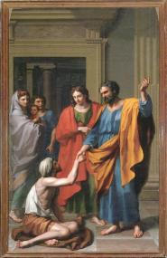 Francisco Javier Ramos- San Pedro curando al tullido en la puerta del templo.