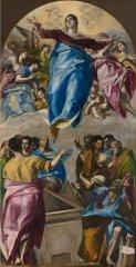 El Greco- Asunción de la Virgen. Art Institute Chicago, EE.UU