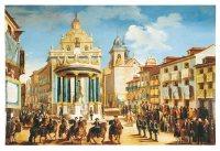 Lorenzo de Quirós: Arquitecturas efímeras para la entrada de Carlos III delante de la Iglesia del Buen Suceso. Museo de Historia, Madrid.