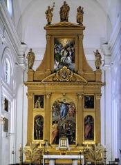 Aspecto actual del retablo de Santo Domingo el Antiguo con algunos de los Grecos y otros copia de las pinturas originales