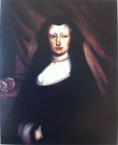 Jacques Courtilleau: Mariana de Neoburgo como viuda. Francia, Château de Haïtze.