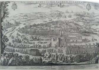Pedro de Villafranca: Encuentro de Felipe IV y Luis XIV en la isla de los Faisanes, 1660.