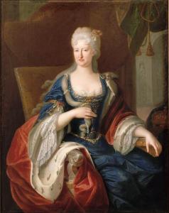 14. Robert Gabriel Genze: Mariana de Neoburgo como reina de España. París, Palacio de Versalles.