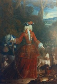 15. Robert Gabriel Genze: Mariana de Neoburgo como Cazadora. Biarritz, Colección particular.