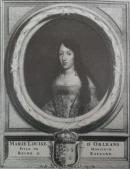 Nicolai Visscher: María Luisa de Orleáns, 1685.