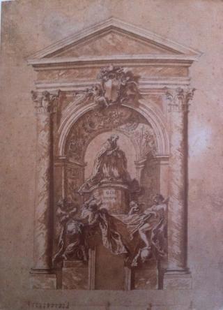 Gian Lorenzo Bernini: Proyecto para la tumba del papa Alejandro VII, ca. 1670.
