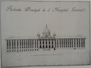 Francisco Sabatini: Fachada Principal del Hospital de San General.
