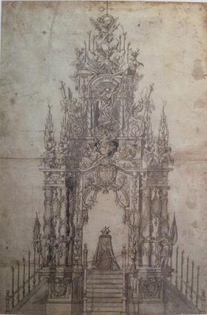 Pedro de Araujo: Túmulo funerario de Carlos II, 1700.