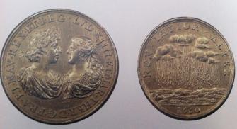 Medalla conmemorativa de la boda de Luis XIV con María Teresa de Austria, 1660.