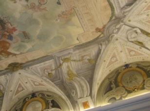 Claudio Coello y José Jiménez Donoso: Detalle del techo de la Casa de la Panadería. Madrid.