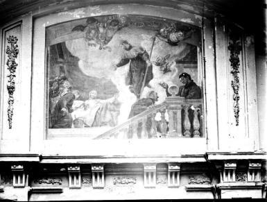 José Jiménez Donoso: Pintura mural de la Colegiata de San isidro.