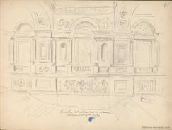 Rafael Monleón y Torres: Dibujo de la escalera del Palacio de Godoy. Biblioteca Nacional de España.