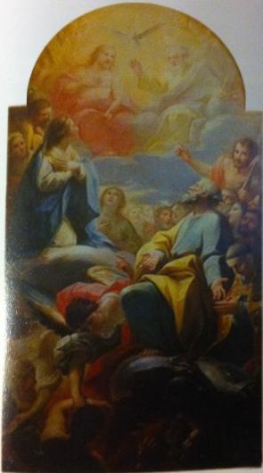 Mariano Salvador Maella: La Virgen y Santos intercediendo por las Ánimas del Purgatorio.