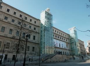 Vista actual de la fachada del Hospital General, actual Museo Nacional Centro de Arte Reina Sofía.