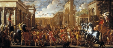 Viviano Codazzi y Domenico Gargiulo: Entrada triunfal de Vespasiano en Roma. Museo Nacional del Prado.