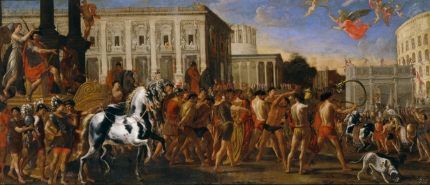 Viviano Codazzi y Domenico Gargiulo: Entrada triunfal de Constantino en Roma. Museo del Prado, Madrid.