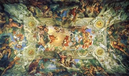 Pietro da Cortona: Triunfo de la Divina Providencia. Palazzo Barberini, Roma.