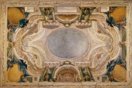 Agostino Mitelli y Angelo Michele Colonna: Boceto para un techo del Buen Retiro. Museo del Prado, Madrid.