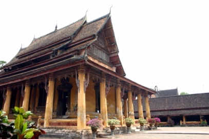 Vista general de Wat Sisaket, Vientián (Laos).