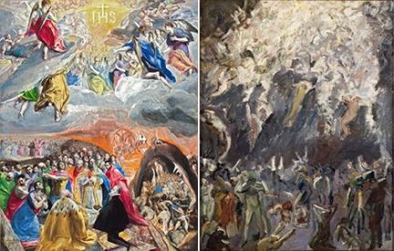Adoración del Nombre de Jesús (Alegoría de la Santa Liga) / Max Beckmann- Estudio para La Resurrección 1