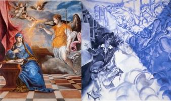 Anunciación/ Marc Chagall- Visión (Autorretrato con musa)