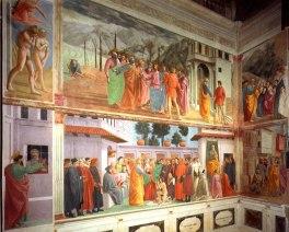 Massaccio: Capilla Brancacci (ejemplo de pintura al fresco).