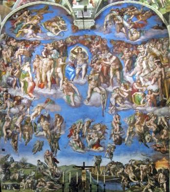 Miguel Ángel: El Juicio Final (ejemplo de pintura al fresco)