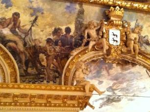 Detalle de la decoración de la bóveda del Salón de Baile