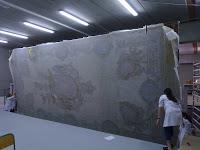 Protección de las pinturas del Palacio Ducal de Gandía (foto UPV)
