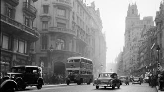 La madrileña Gran Vía en los años 30