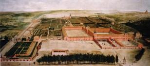 Jusepe Leonardo: Vista de los jardines y el Palacio del Buen Retiro. Patrimonio Nacional, Madrid.