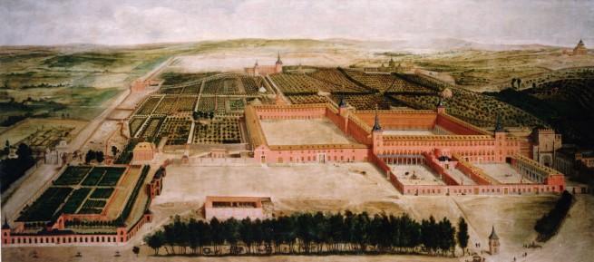Jusepe Leonardo: Vista de los jardines y el Palacio del Buen Retiro, 1633-1637. Patrimonio Nacional, Madrid.