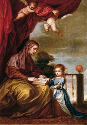 """Alonso Cano: """"La Educación de la Virgen"""". Fundación Banco Santander."""
