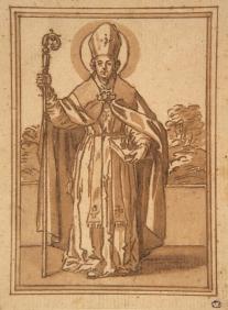 Sebastián Herrera Barnuevo, atribuido: Santo Obispo. Princeton University Art Museum