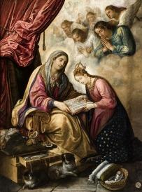 Juan de Roelas: La educación de la Virgen. Museo de Bellas Artes de Sevilla.