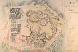Anónimo : Plan du fort du Retiro a Madrid, 1811. Real Biblioteca, Madrid.